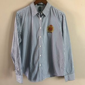 LAUREN RALPH LAUREN Preppy Striped Dress Shirt